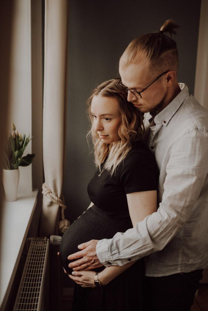 Sina&Tim Babybauch Schwangerschaft Fotografie Homestory Hannover